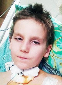 Даня Ревенко, 10 лет, редкая опухоль – хордома носоглотки и основания черепа, требуется операция. 2056659 руб.