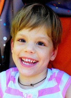 Кристина Софронова, 5 лет, детский церебральный паралич, симптоматическая фокальная эпилепсия, требуется лечение. 199430 руб.