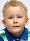 Вася Тимофеев, 2 года, двусторонняя тугоухость 4-й степени, требуются слуховые аппараты. 129170 руб.
