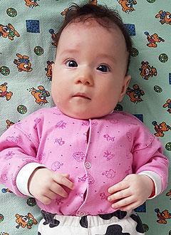 Арина Нурутдинова, 4 месяца, врожденная двусторонняя косолапость, требуется лечение. 151900 руб.