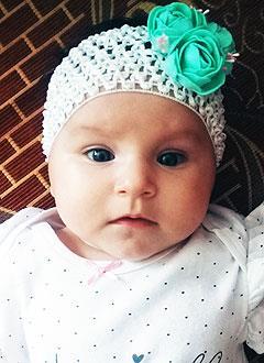 Ралина Андреева, 4 месяца, врожденная двусторонняя косолапость, требуется лечение по методу Понсети. 151900 руб.