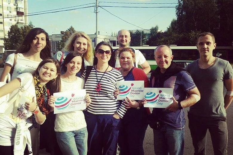Русфондовцы и их друзья после сдачи крови (Москва)